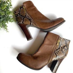 Kenneth Cole Reaction | Python Brown Heel Boots